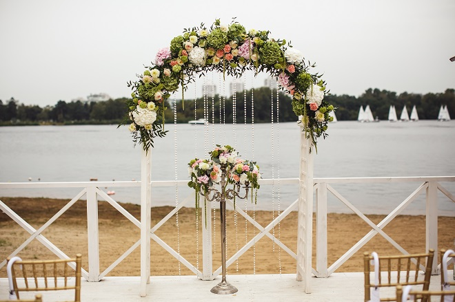 floral arch diy wedding project for father of the bride