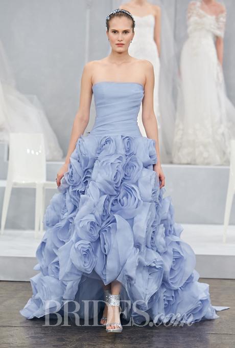 blue colour wedding dress trend for 2015
