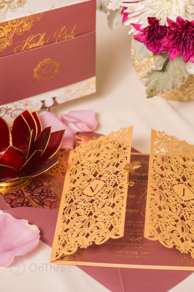 Invitation with accessory cards.