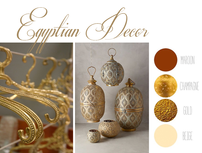 Research and mood board featuring Egyptian decoration