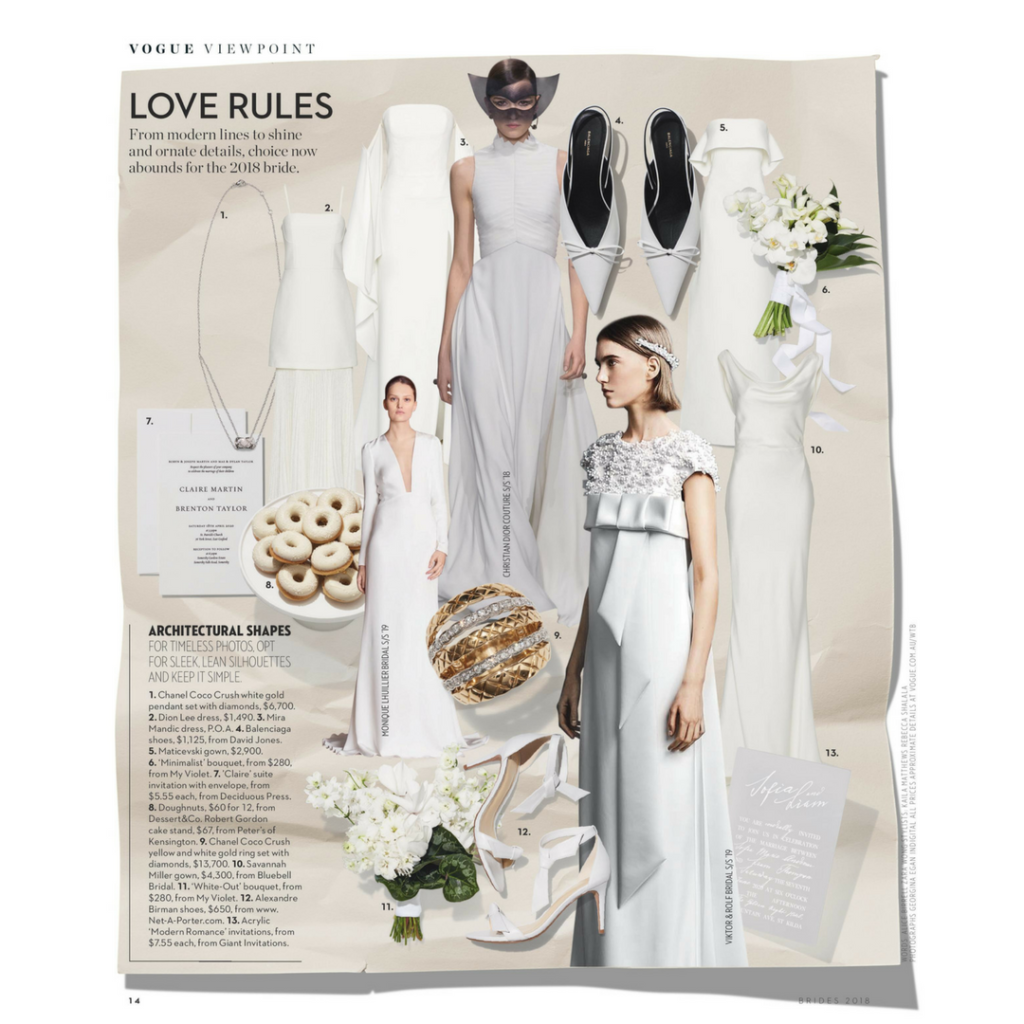 Giant featured in Vogue Brides