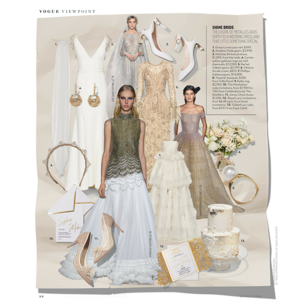 Giant Invitations in Vogue Brides