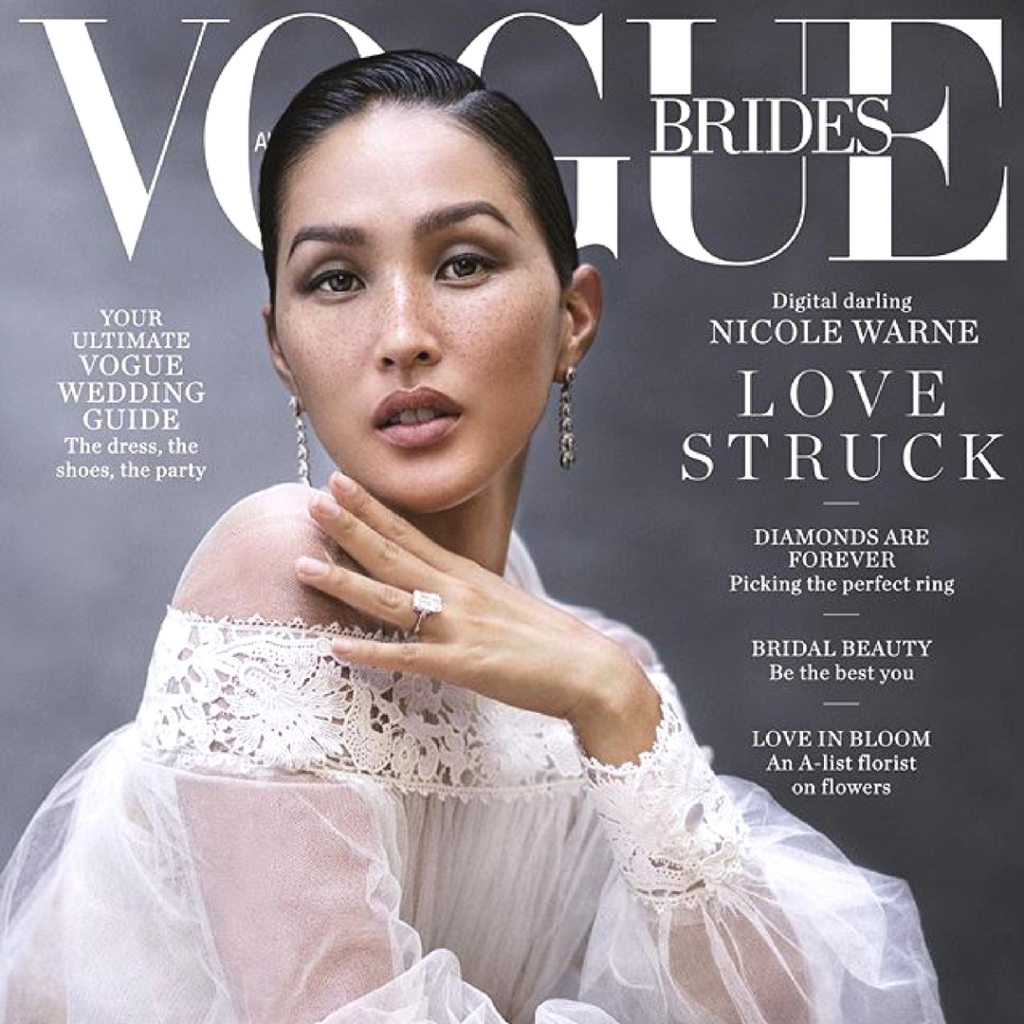 Giant Invitations featured in Vogue Brides 2018