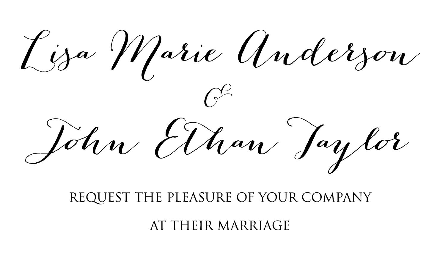 best wedding invitation fonts