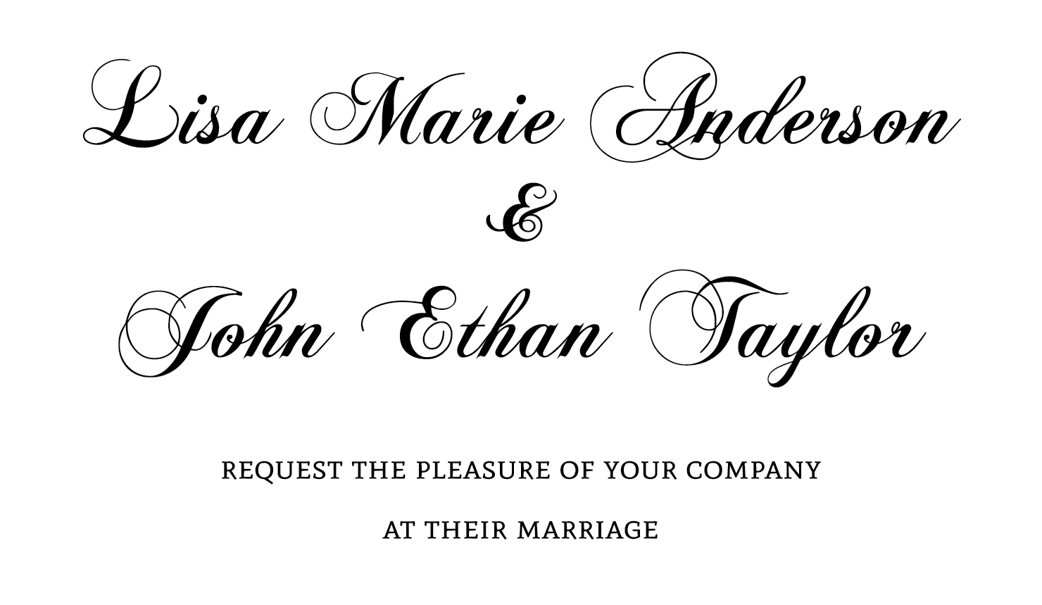 Fonts For Wedding Invitations: Best Wedding Invitation Fonts
