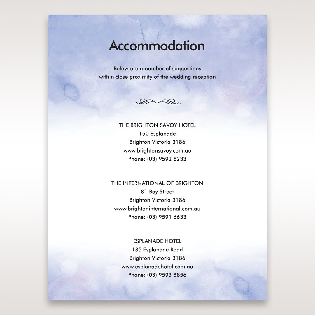 Purple Lasercut pocket with Love Birds - Accommodation - Wedding Stationery - 76