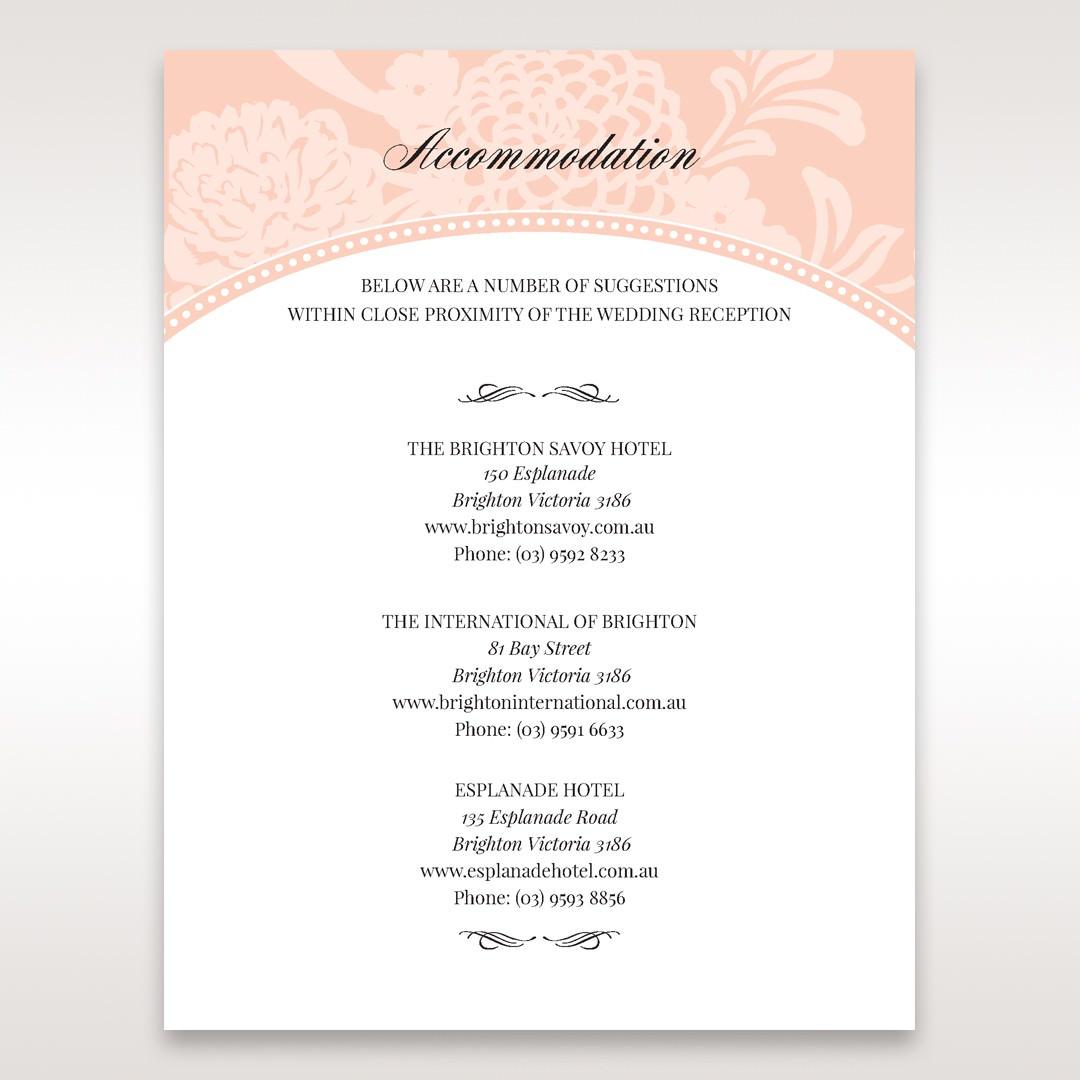 Pink Rustic Garden Laser Cut Pocket - Accommodation - Wedding Stationery - 2