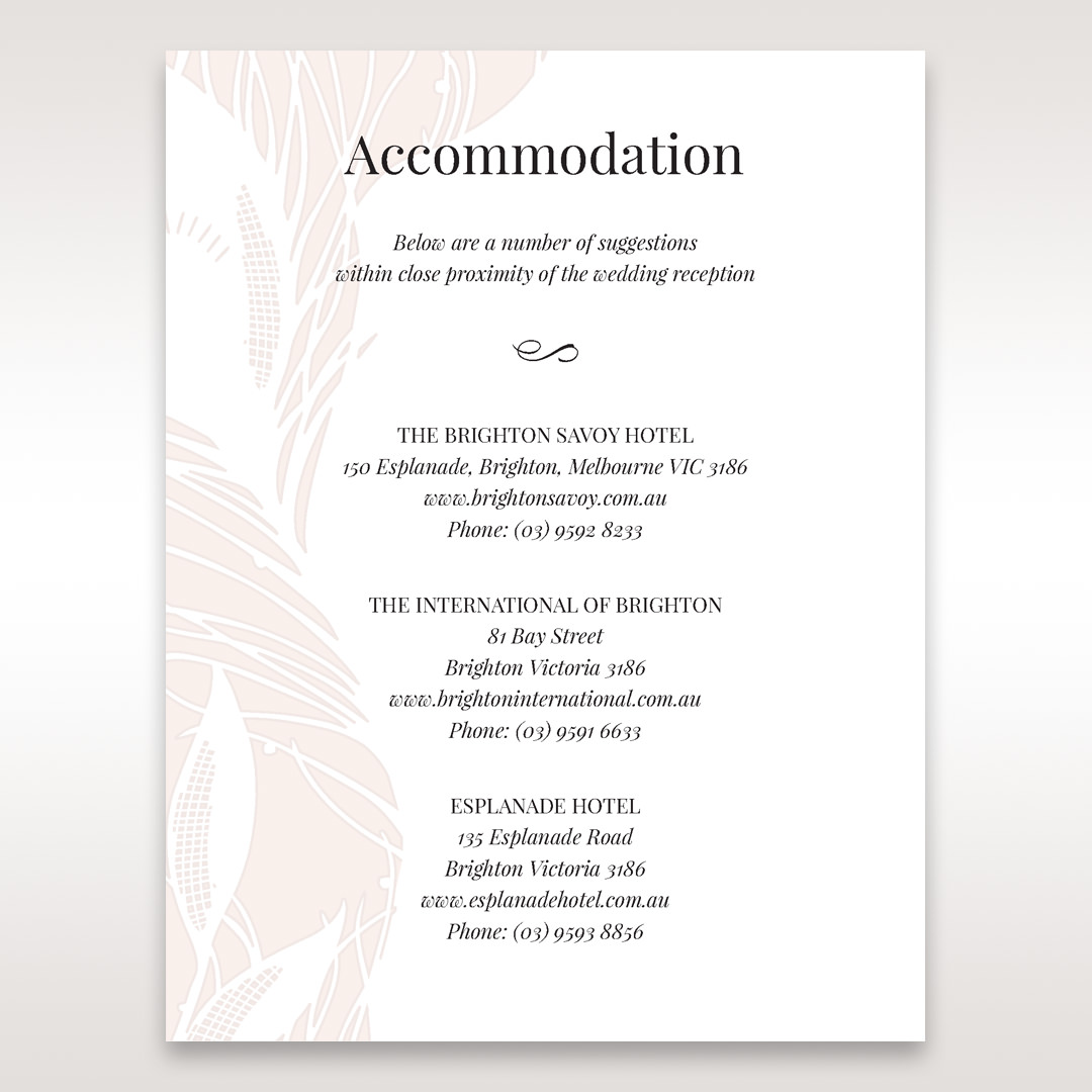 Orange Mystic Forest - Accommodation - Wedding Stationery - 90