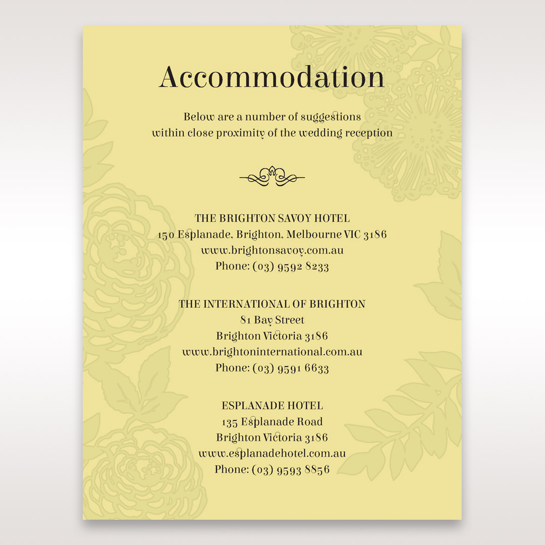 Green Magical Garden - Accommodation - Wedding Stationery - 96