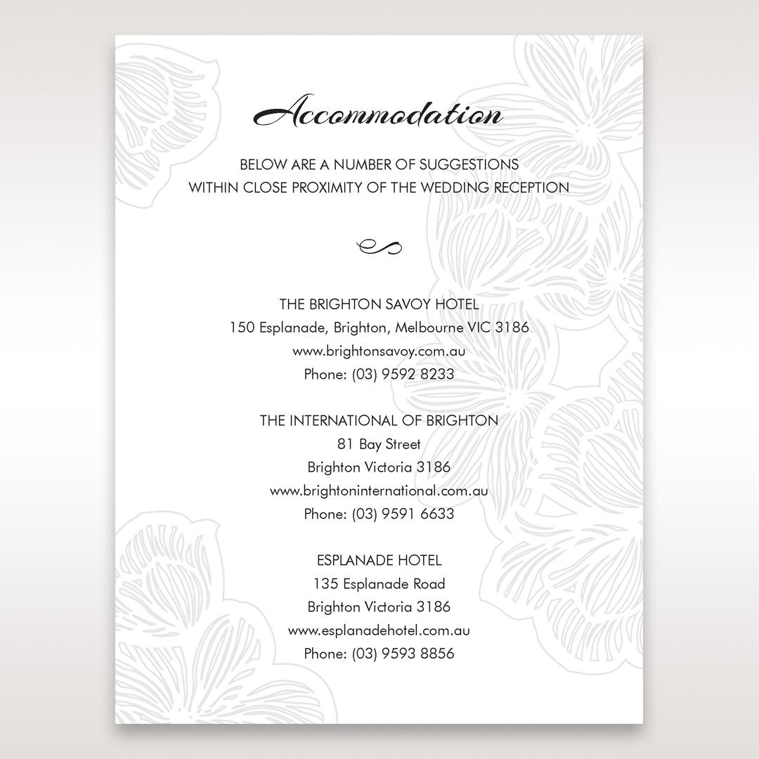 White Laser Cut Flower Frame - Accommodation - Wedding Stationery - 6