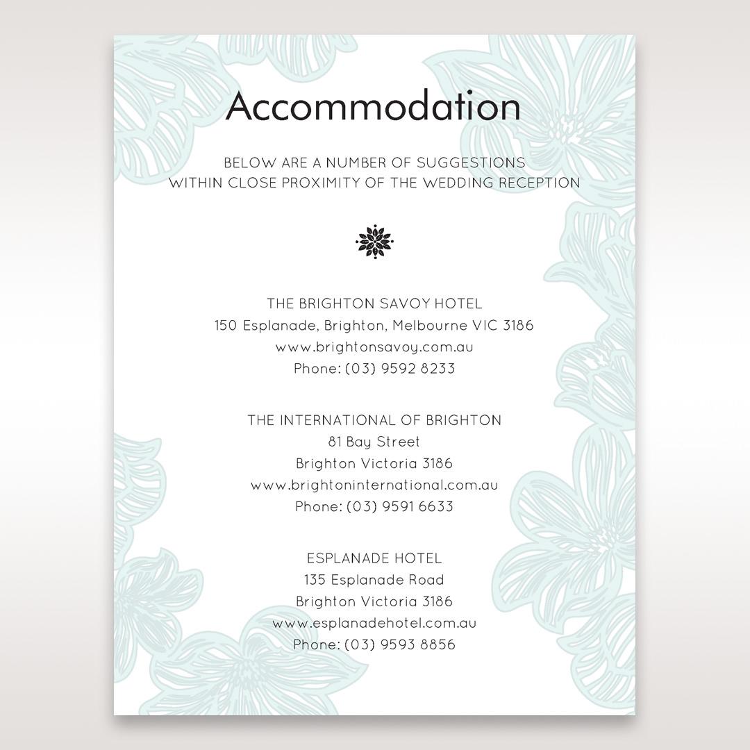 Blue Laser Cut Flower Wrap - Accommodation - Wedding Stationery - 15