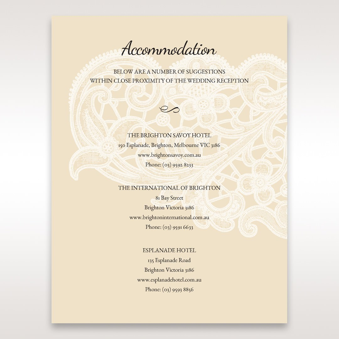Yellow/Gold Laser Cut Floral Pocket - Accommodation - Wedding Stationery - 39