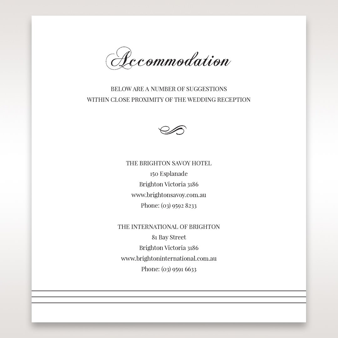 White Modern Pocket-Grey - Accommodation - Wedding Stationery - 58