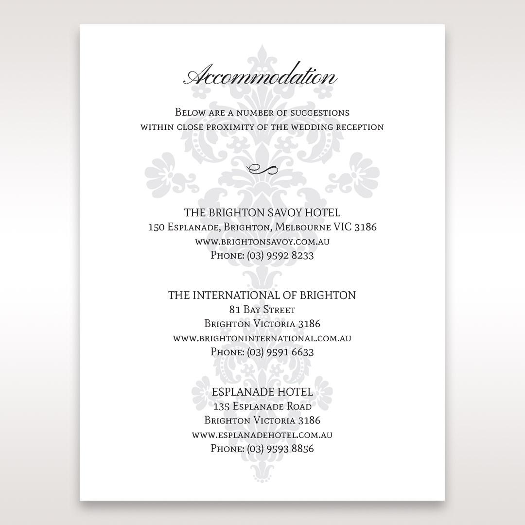 White Letter-fold Damask Pocket - Accommodation - Wedding Stationery - 49