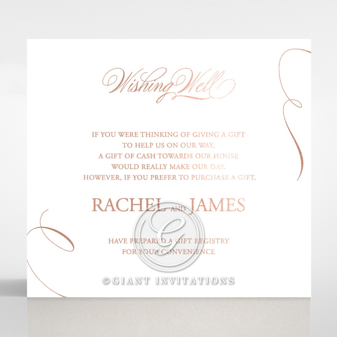 A Polished Affair wishing well card DW116088-GW-RG