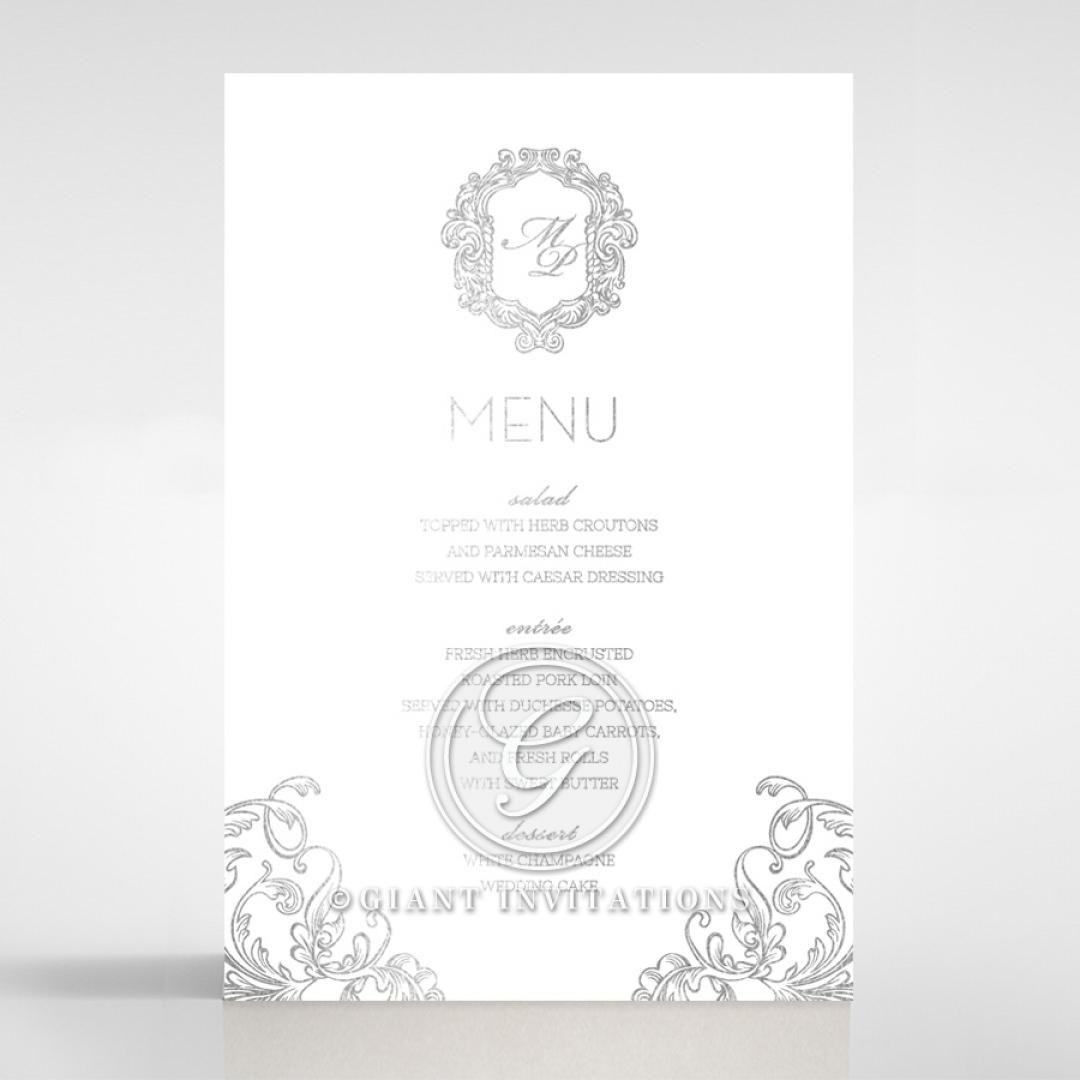 Aristocrat menu card DM116122-GW-GS