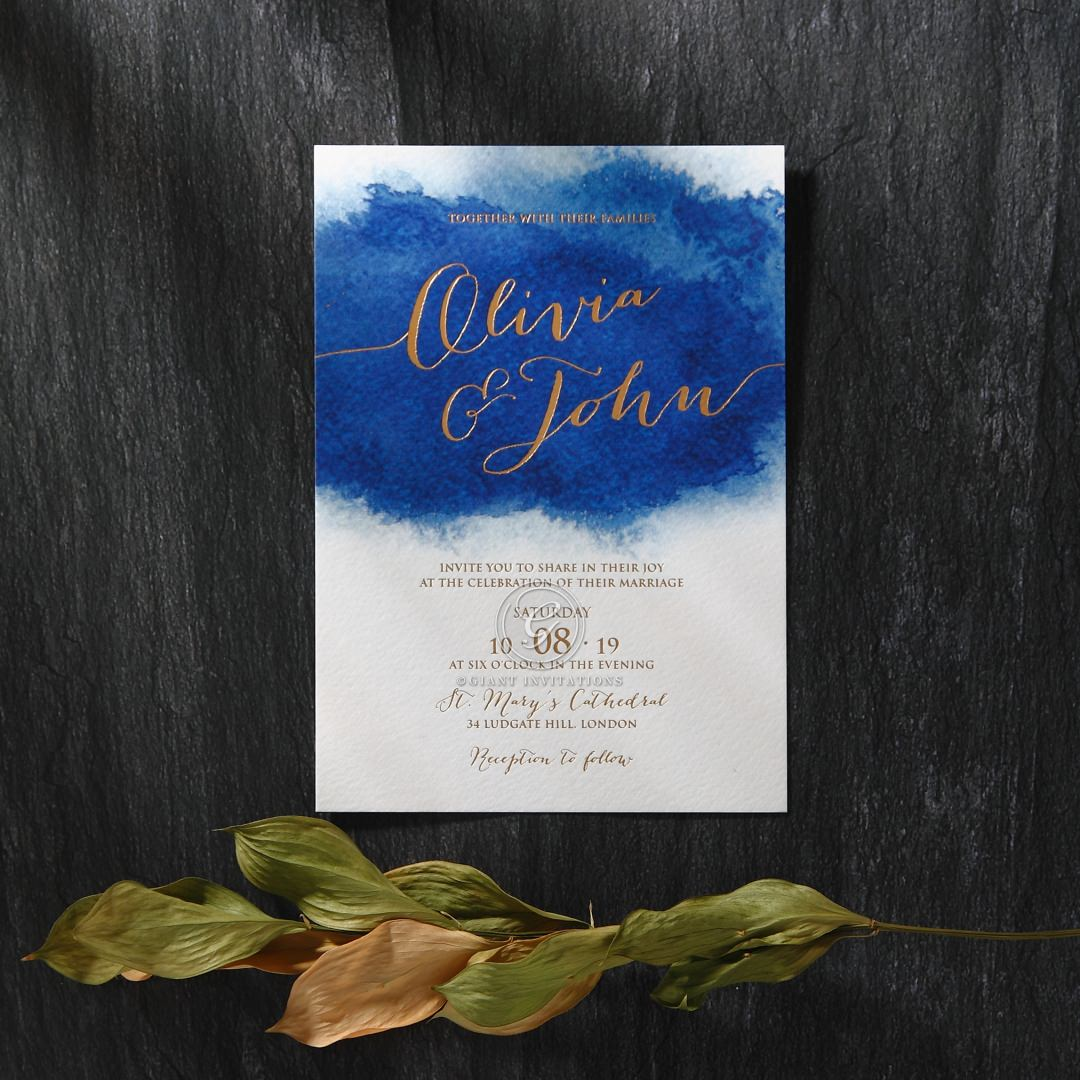 At Twilight with Foil wedding invitations FWI116127-TR-MG
