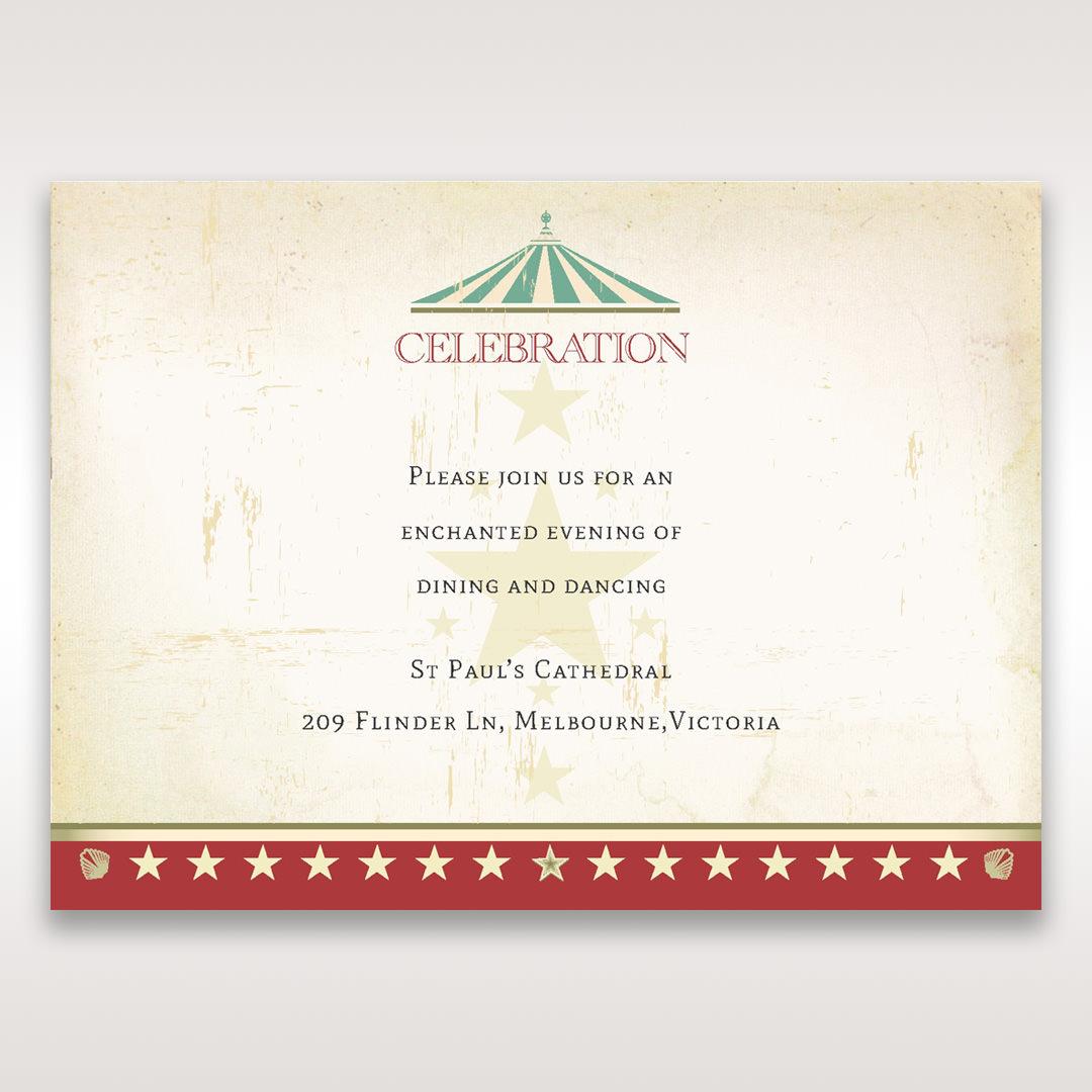 Red Big Top Celebration - Reception Cards - Wedding Stationery - 50