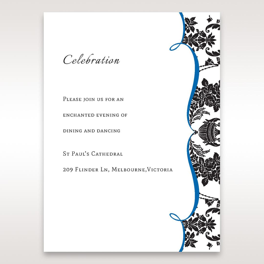 Black Black Grandeur - Reception Cards - Wedding Stationery - 6