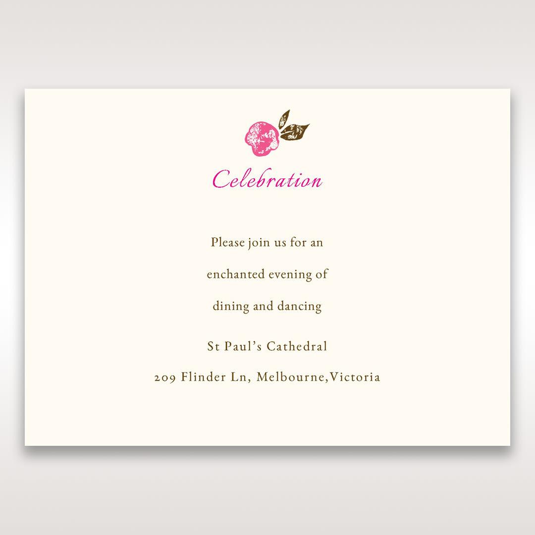 Red Flowers & Gemstones - Reception Cards - Wedding Stationery - 22