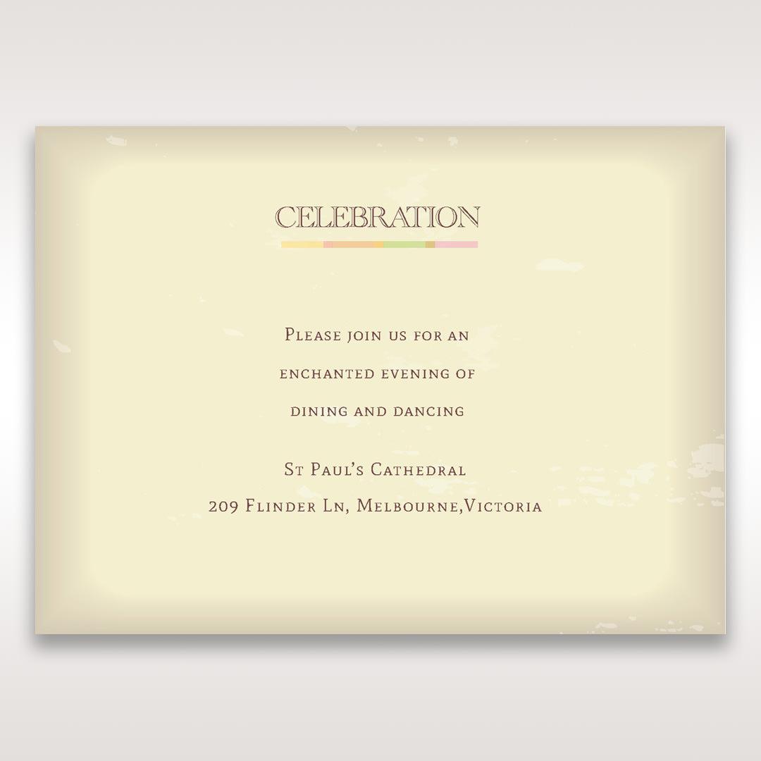Orange Faded Modern Retro - Reception Cards - Wedding Stationery - 92