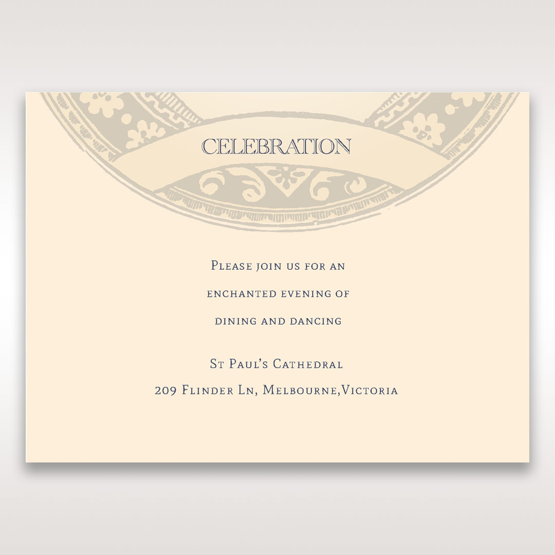 Yellow/Gold Around the Globe with Love - Reception Cards - Wedding Stationery - 88