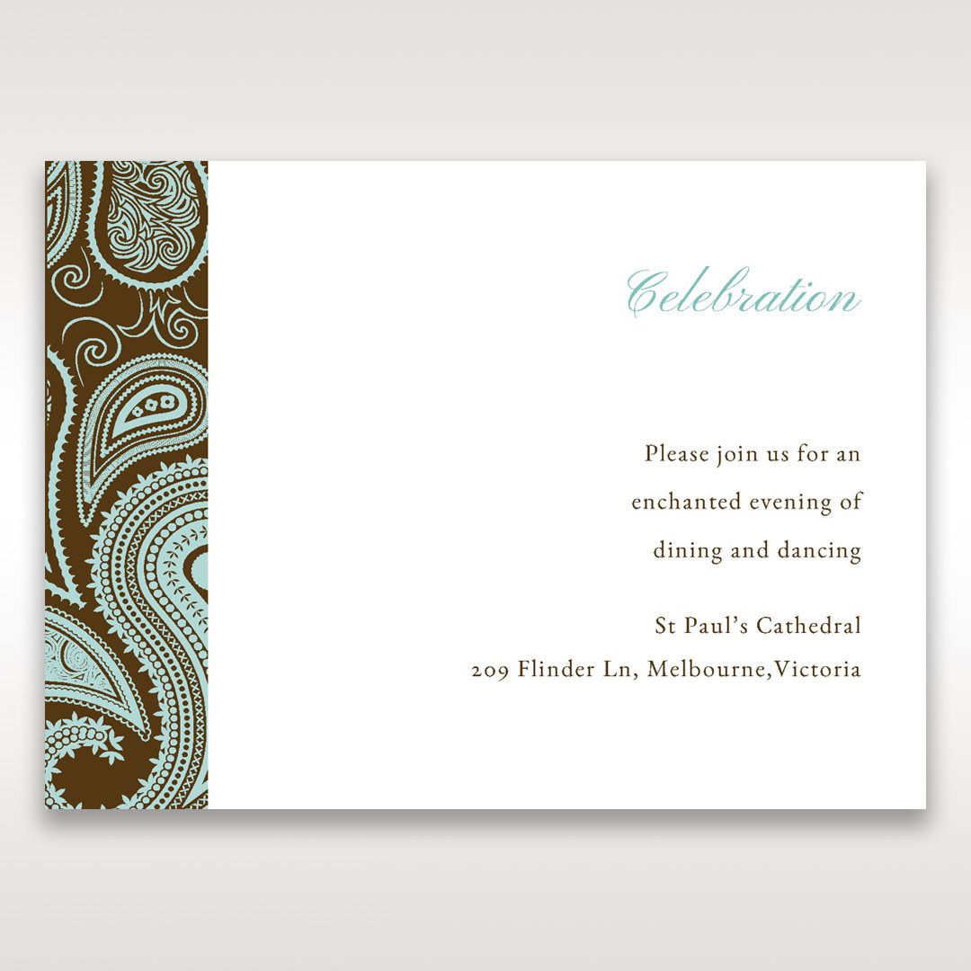 Blue Vintage Swirls - Reception Cards - Wedding Stationery - 81