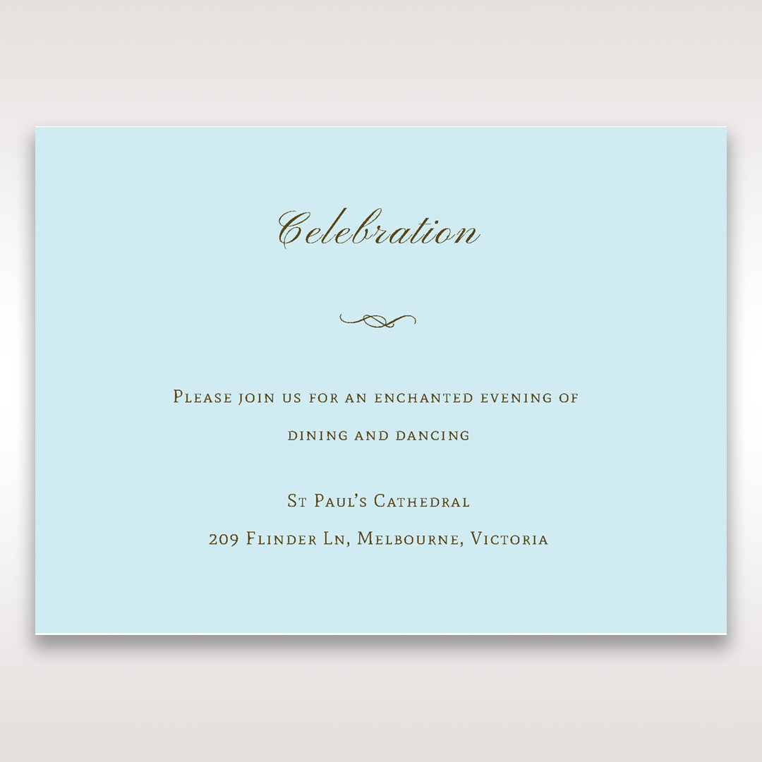 Blue Something Old and Blue - Reception Cards - Wedding Stationery - 48