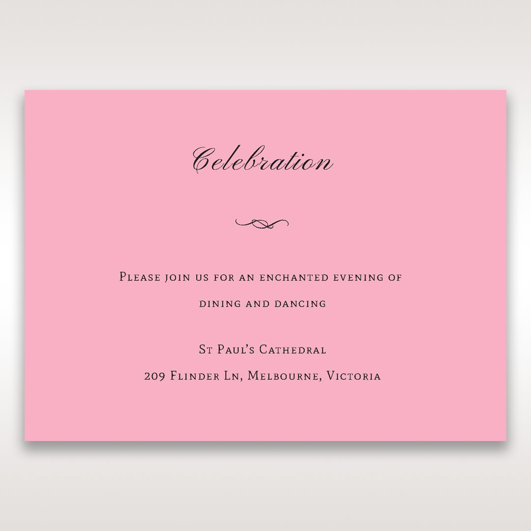 Pink Pretty in Pink Modern Couture - Reception Cards - Wedding Stationery - 54