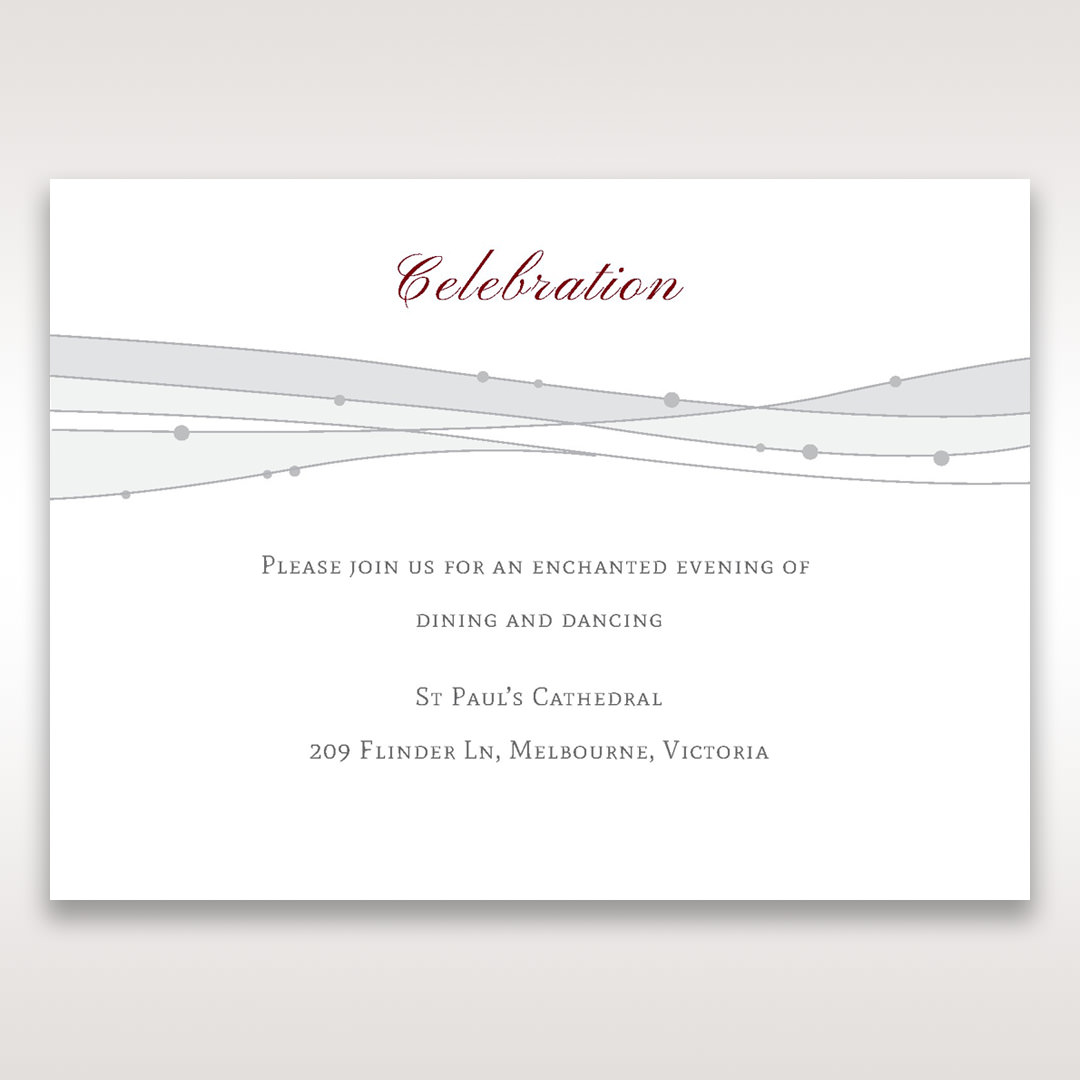 Pink Urban Couture with Jewels - Reception Cards - Wedding Stationery - 43
