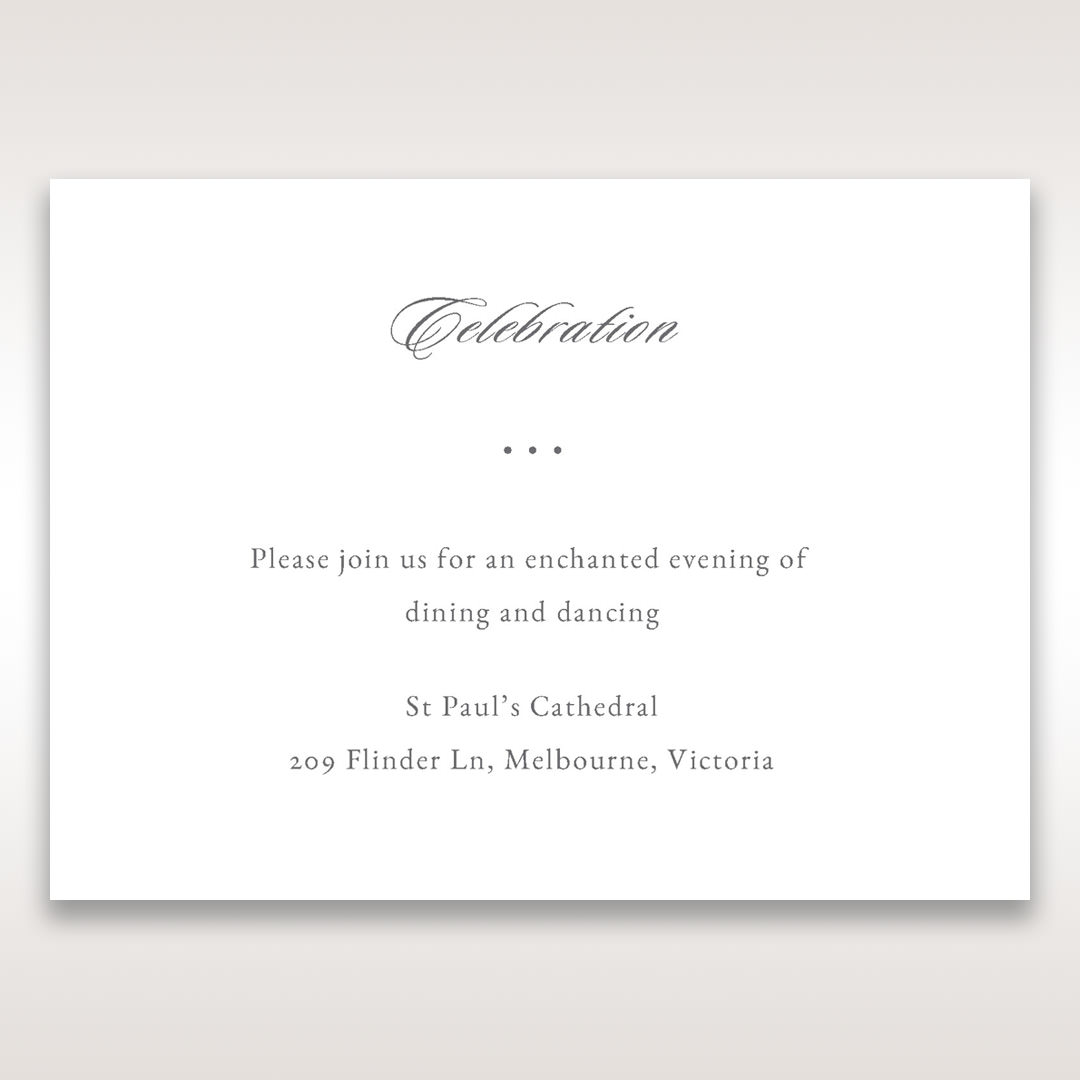 Black Majestic Black, White and Red - Reception Cards - Wedding Stationery - 65