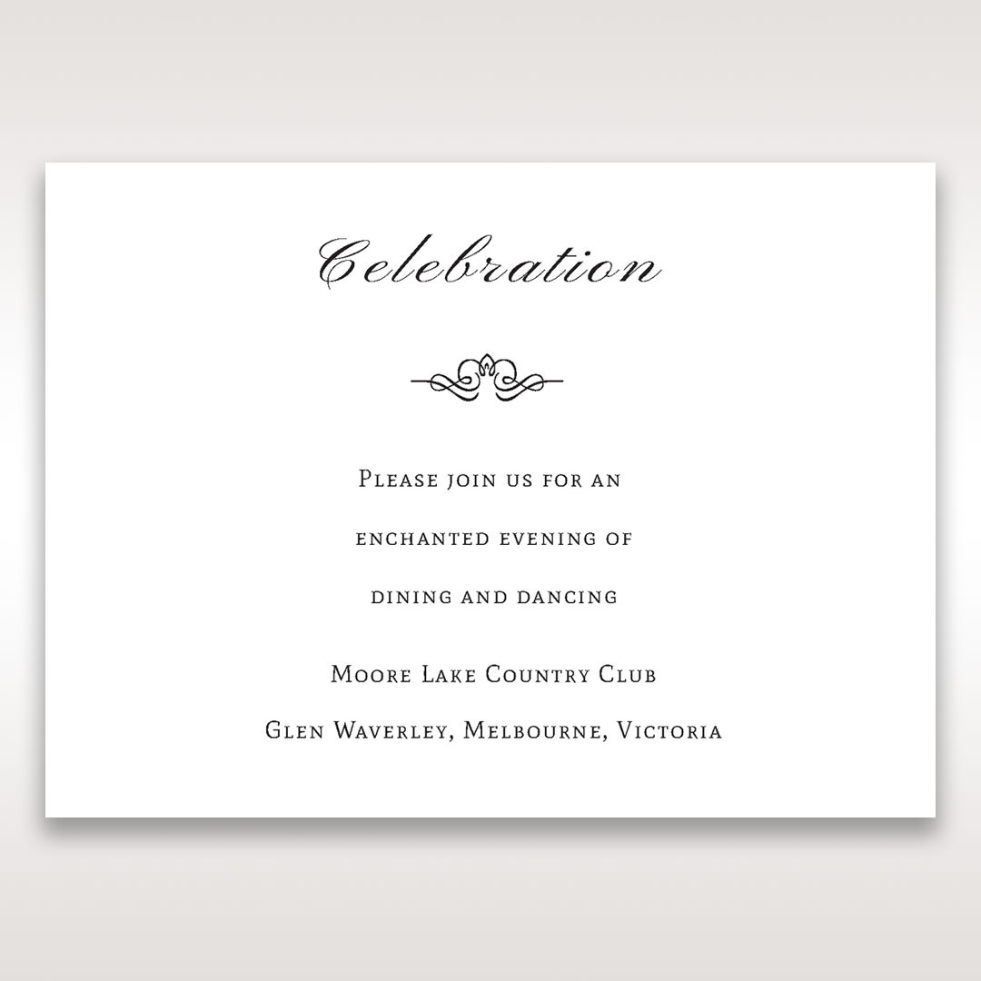 Silver/Gray Galaxy Gold - Reception Cards - Wedding Stationery - 66