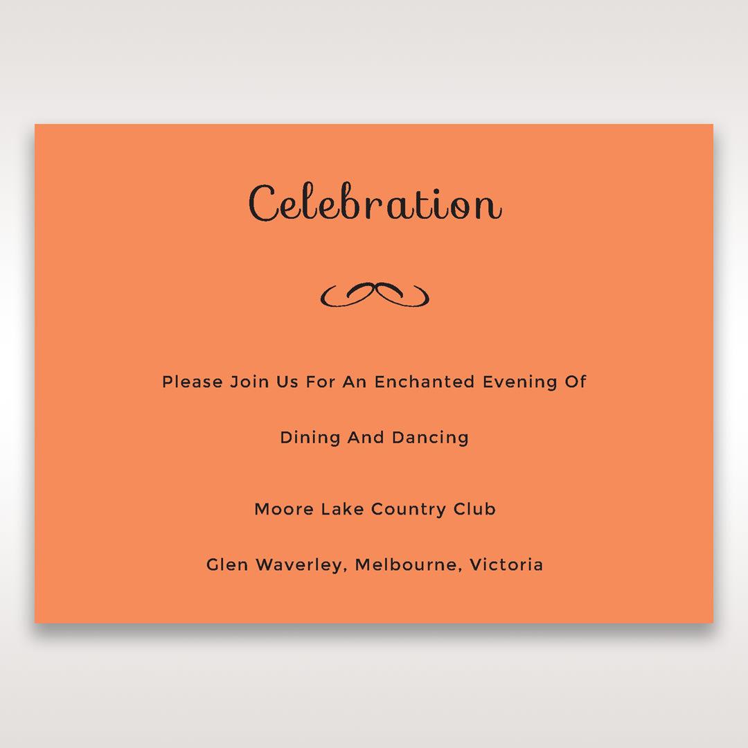 Orange Laser Peacock Laser Cut Pocket With Foil - Reception Cards - Wedding Stationery - 56