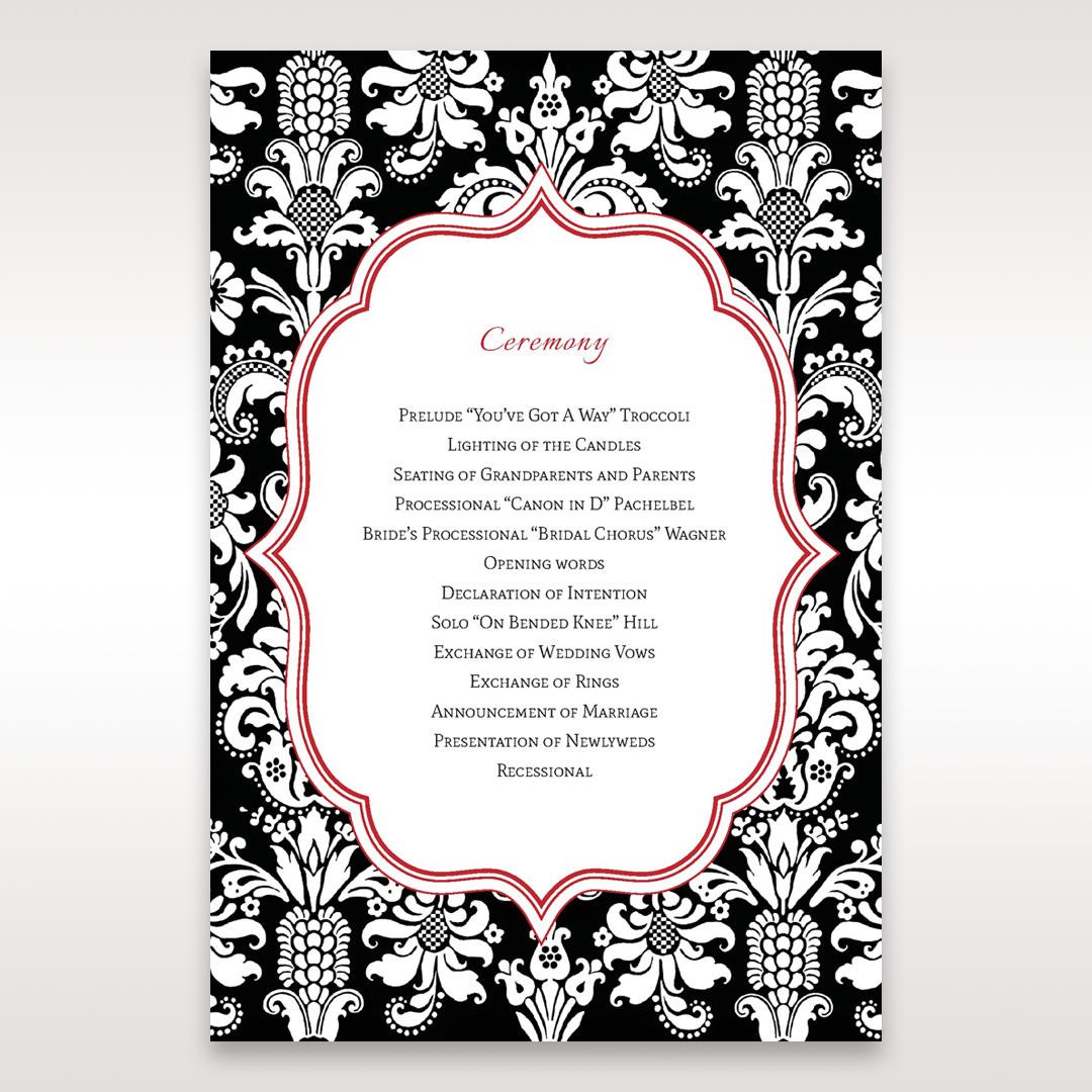 Black Majestic - Order of Service - Wedding Stationery - 73