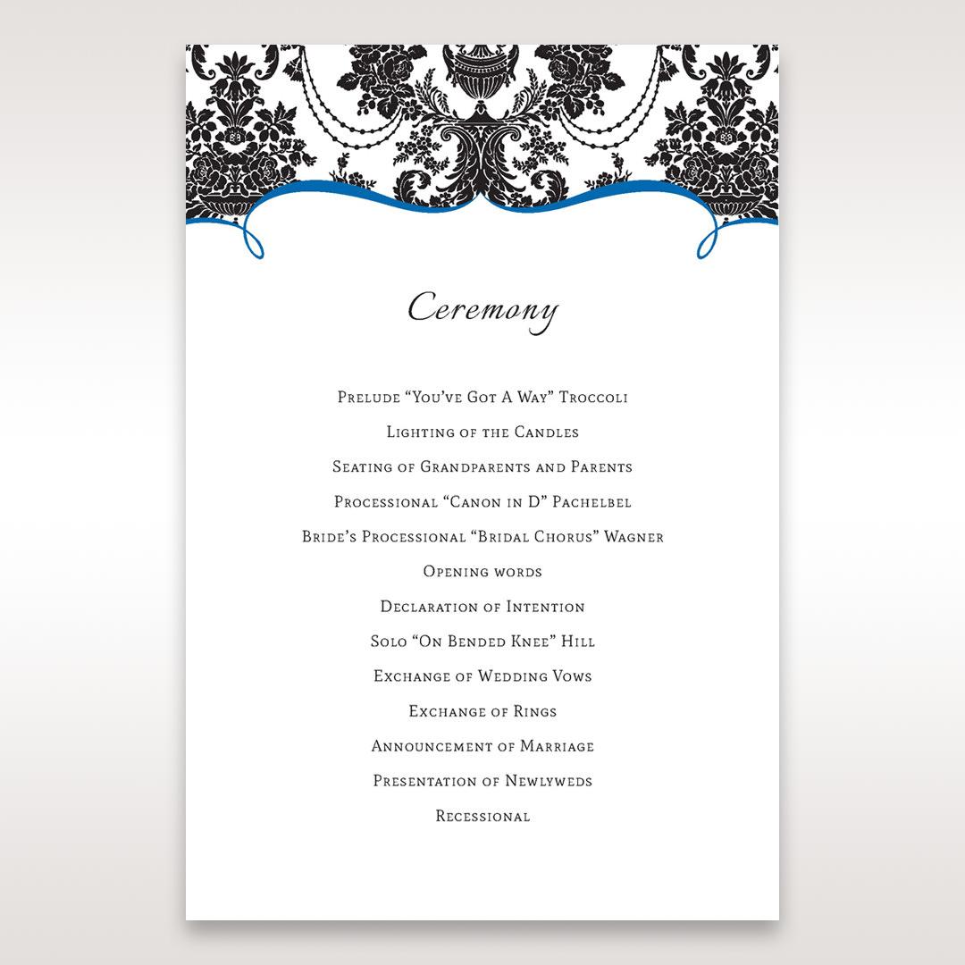 Black Black Grandeur - Order of Service - Wedding Stationery - 88