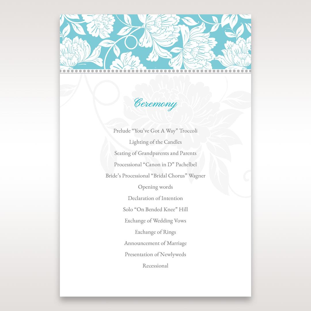 Blue Vintage Floral in Blue - Order of Service - Wedding Stationery - 15