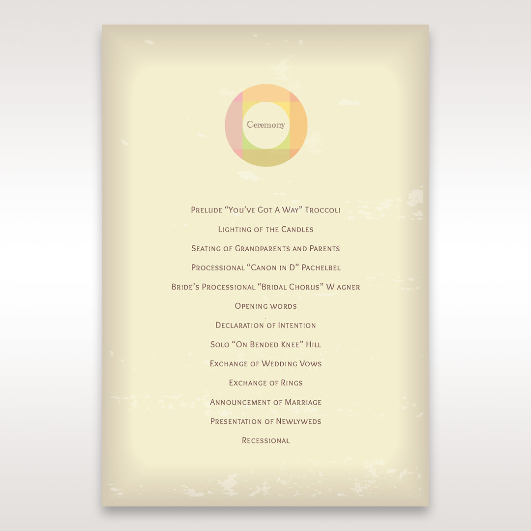 Orange Faded Modern Retro - Order of Service - Wedding Stationery - 21
