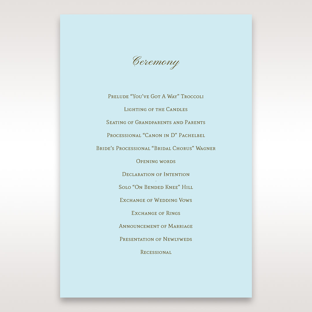 Blue Something Old and Blue - Order of Service - Wedding Stationery - 46