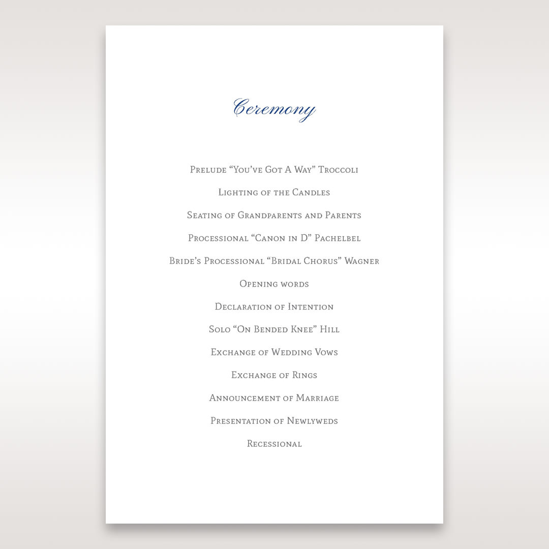White Something Old and Blue - Order of Service - Wedding Stationery - 49