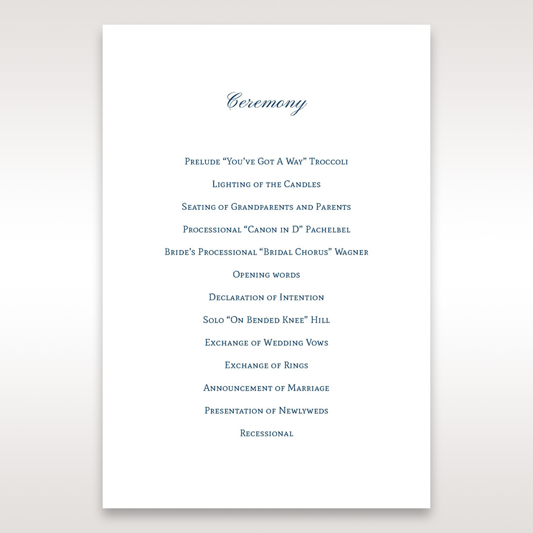 Purple Romantic Elegance, Couture - Order of Service - Wedding Stationery - 71