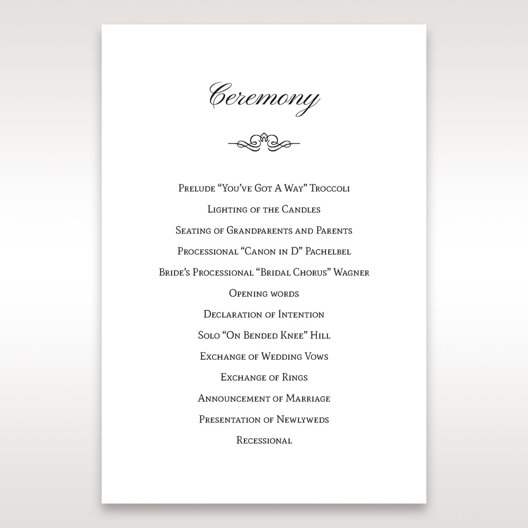 Silver/Gray Galaxy Gold - Order of Service - Wedding Stationery - 52