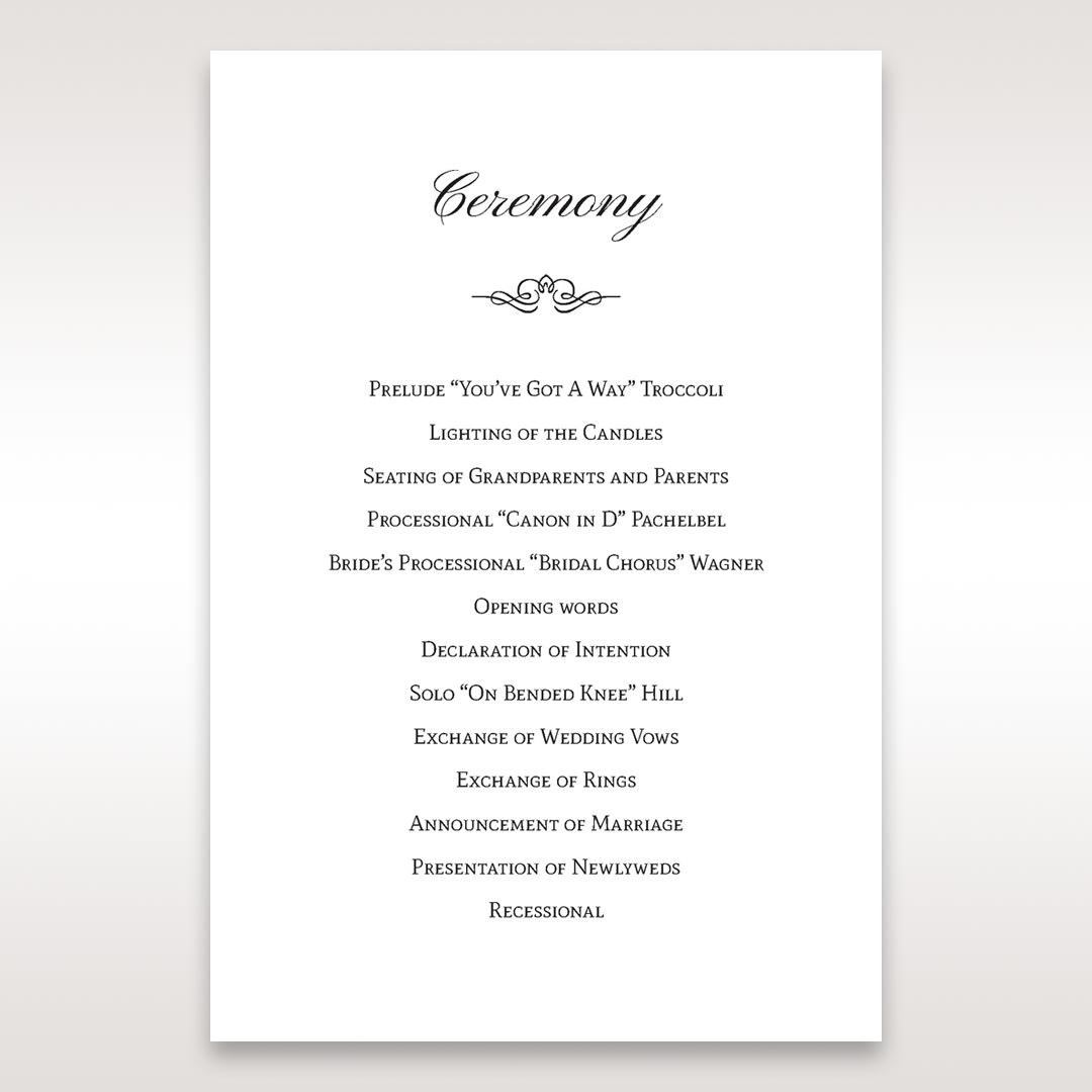 Silver/Gray Kinne Ivory - Order of Service - Wedding Stationery - 31