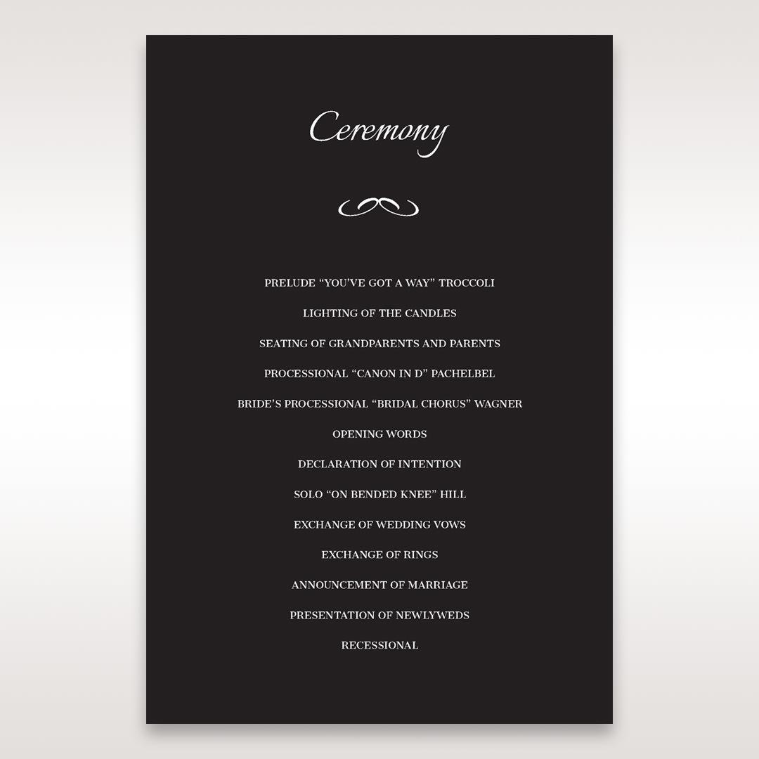 Black Laser Contempo Laser Cut Pocket - Order of Service - Wedding Stationery - 78