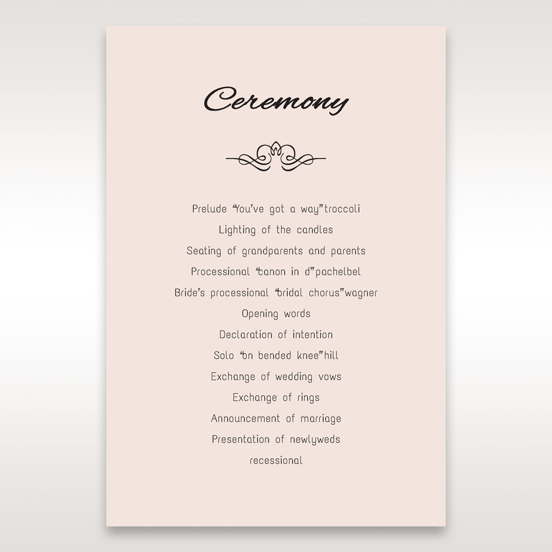 White Laser Inseparable Wrap - Order of Service - Wedding Stationery - 12