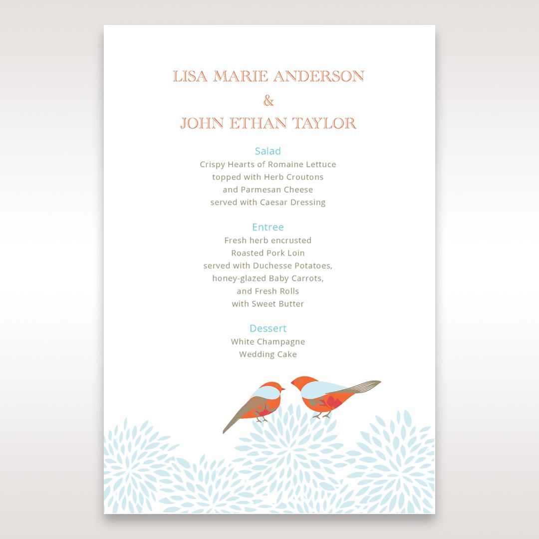Red Love Birds - Menu Cards - Wedding Stationery - 37