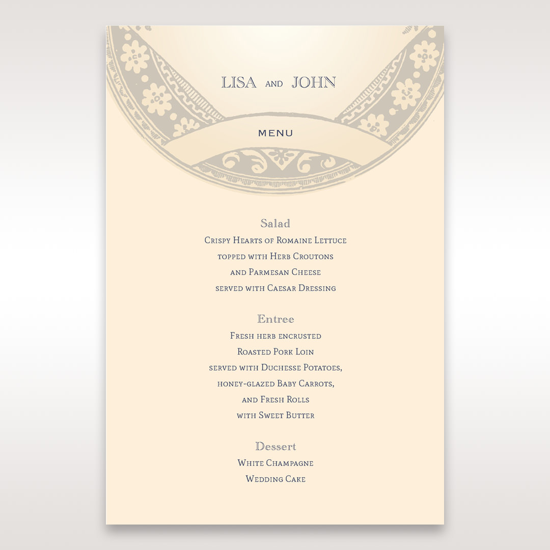 Yellow/Gold Around the Globe with Love - Menu Cards - Wedding Stationery - 92