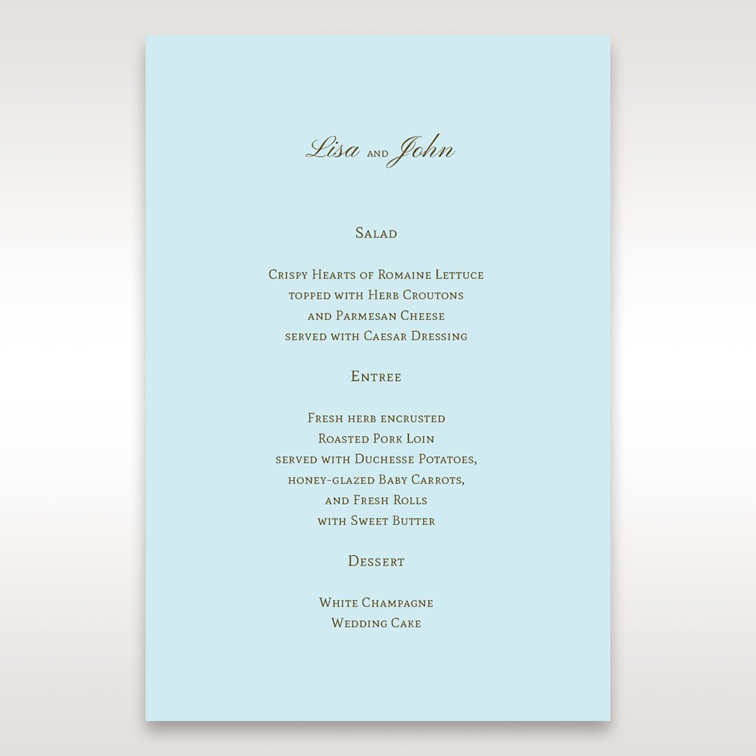 Blue Something Old and Blue - Menu Cards - Wedding Stationery - 30