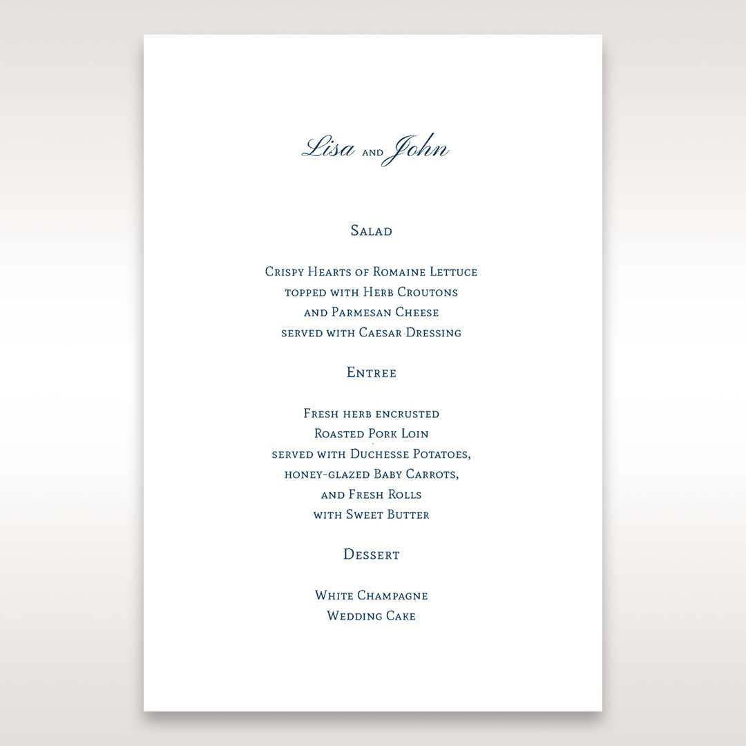 Purple Romantic Elegance, Couture - Menu Cards - Wedding Stationery - 36