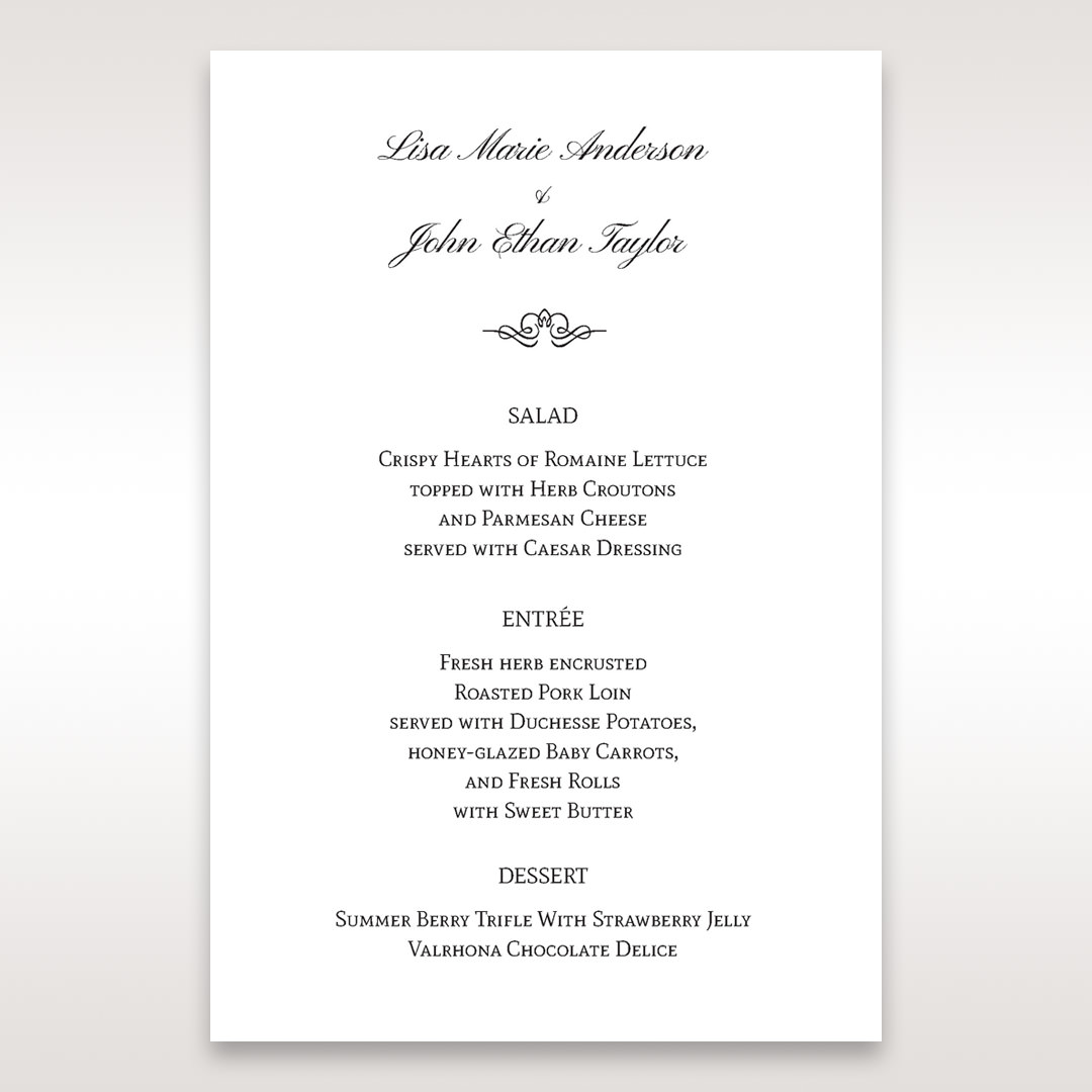 Silver/Gray Galaxy Gold - Menu Cards - Wedding Stationery - 70