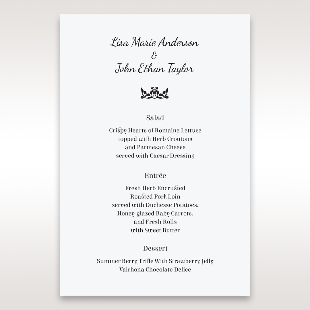 White Laser Gated Elegance Laser Cut Pocket - Menu Cards - Wedding Stationery - 10
